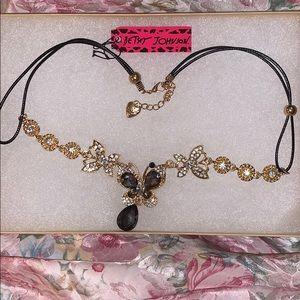 Betsey Johnson 3 Butterfly Necklace